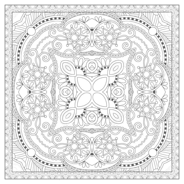 square mandala coloring pages - photo#4