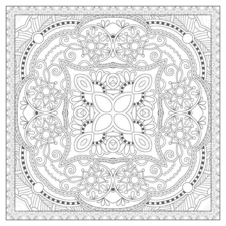 square mandala coloring pages - photo#6