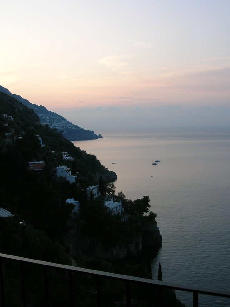 This is the view from my room in Positano, Italy. Booked a cooking vacation with mom, then got laid-off a few month's later in '08, but we still  went and had a great time. The weather was perfect in early October, the classes were fun and delicious, and the package included trips to Pompeii, Capri and nearby towns. Since it was off-season, we were basically the only folks signed up and no crazy crowds everywhere. If you're interested, check out: http://cooking-vacations.com/