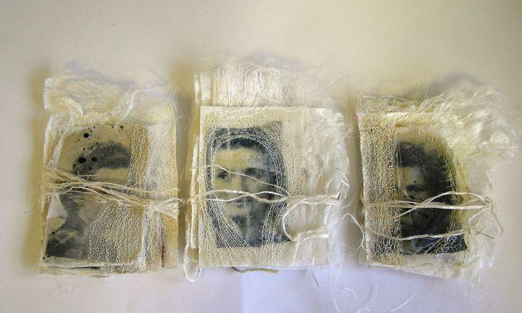 Artist books handmade on silk paper by Marilyn Stephens blog at http://marilyn-interlaced.blogspot.co.uk/