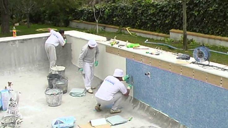 C mo instalar vidrepur en una piscina pintar azulejos - Como pintar azulejos ...