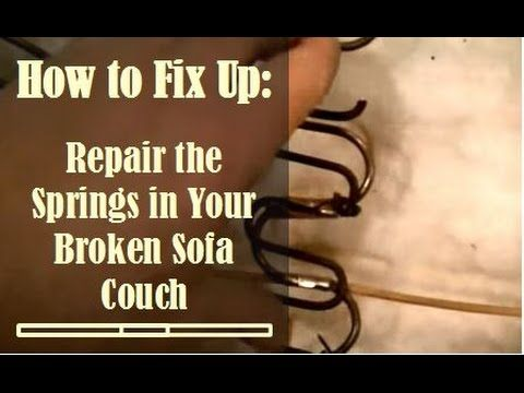 1000 Ideas About Couch Repair On Pinterest Leather