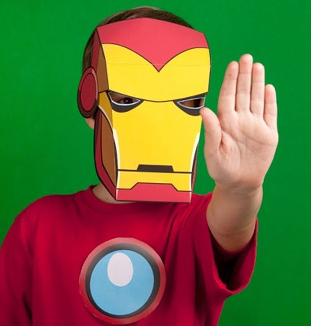Fashion and Action: Iron Man Printable Paper Mask - Easy IM3 Premiere ...