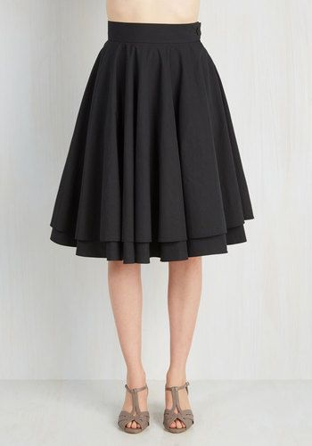 Essential Elegance Skirt in Black From the Plus Size Fashion Community at www.VintageandCurvy.com