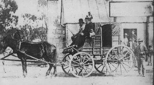 Coach Stop at Pipers Flat,Lithgow region of New South Wales (year unknown) A♥W