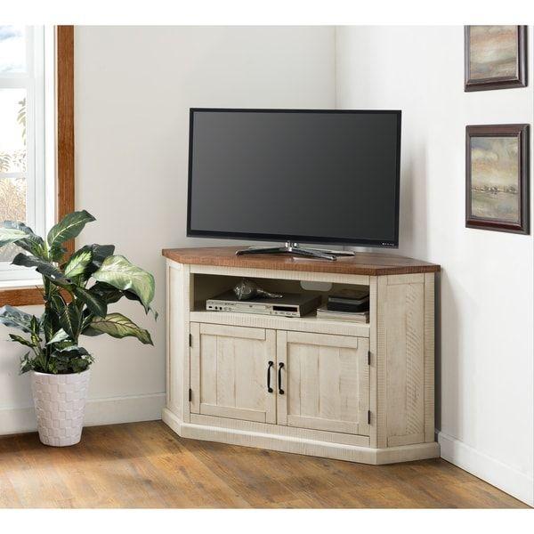 The Gray Barn Danebury Rustic 50 Inch Solid Wood Corner Tv Stand