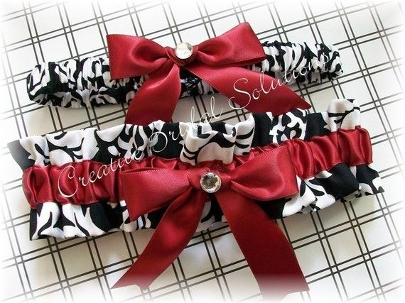 Black and White Damask with Dark Red Wedding by CreativeBridal, $35.00