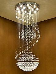Moderne LED-Kristall Decke hängende helle Innen-Kronleuchter Hause hängende Beleuchtung Lampen Vorrichtungen mit 5w führte warme weiße – EUR € 902.34