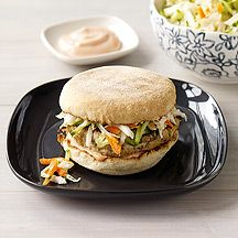 Bahn Mi-Style Turkey Burgers | Weight Watchers - 8 points Christi's notes: add rice wine vinegar, mirin, some thai basil or mint to the slaw. Use the whole bag of slaw. Add red pepper flakes and aleppo pepper to the turkey. Skip the mayo and just use srirarcha on the burger.
