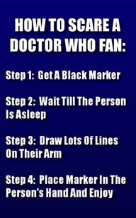 """""""Tally marks. Loads and loads of tally marks."""" - Perfect. *diabolical grin*  Please never do this unless I can wake with the Doctor next to me"""