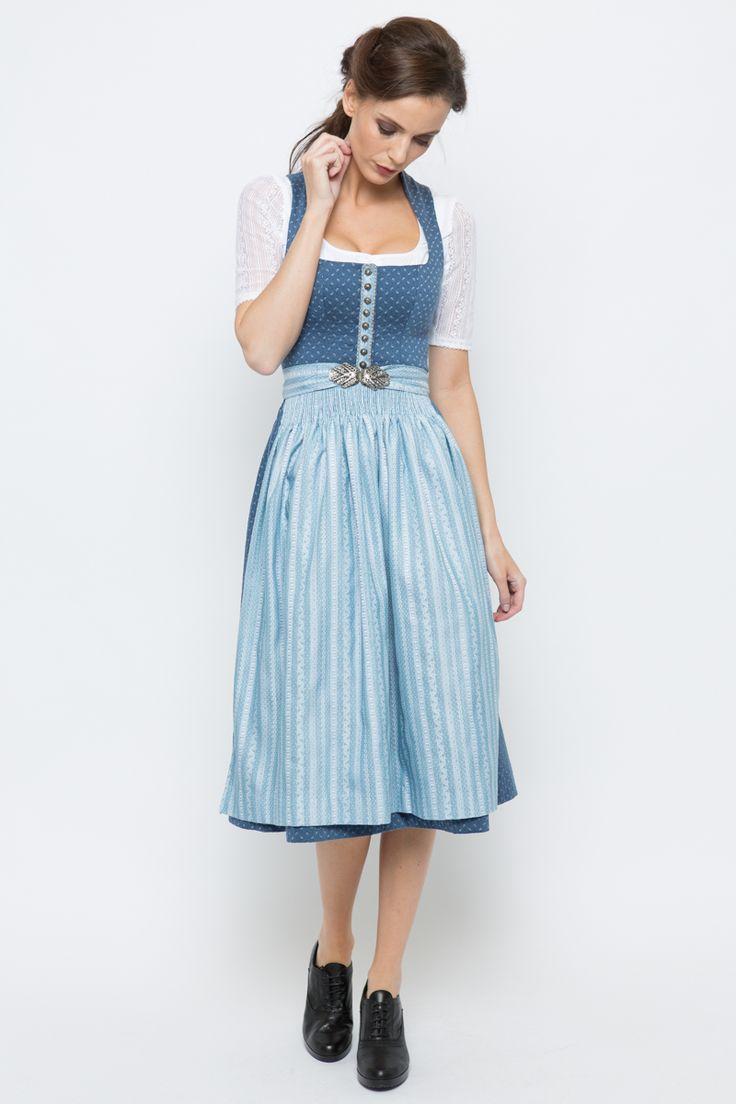 Midi Dirndl Marei, dunkelblau/blau   Gottseidank   online bestellen   Ludwig & Therese