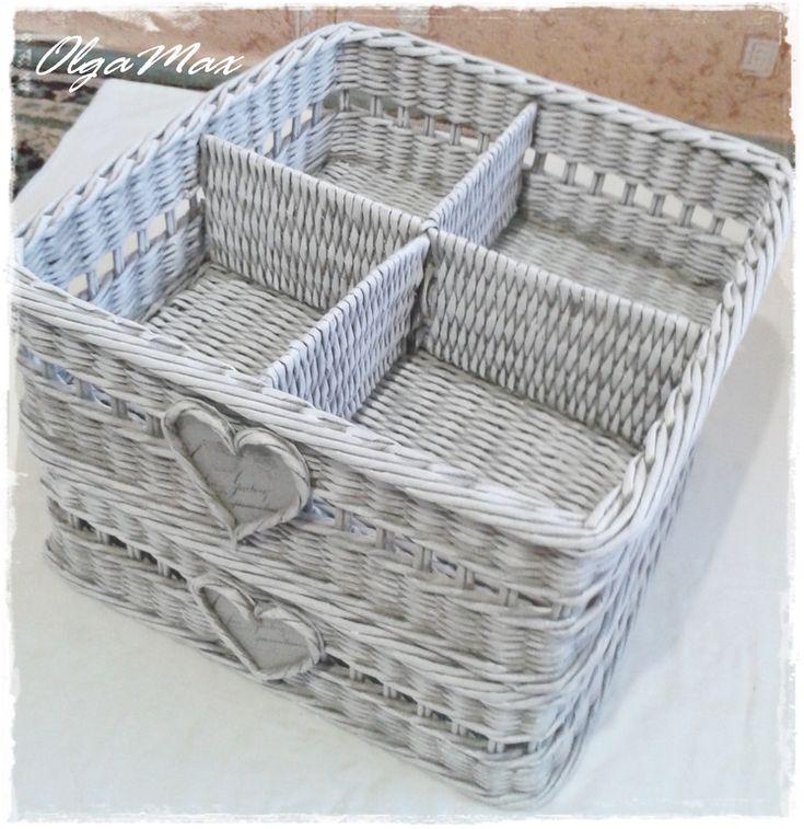 osztott Купить Плетеная корзина для хранения мелочей (резерв) - серый, плетеная…