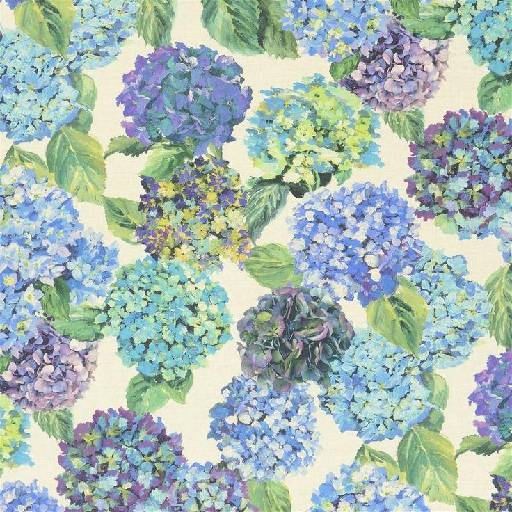 sudara lino - azure fabric   Designers Guild