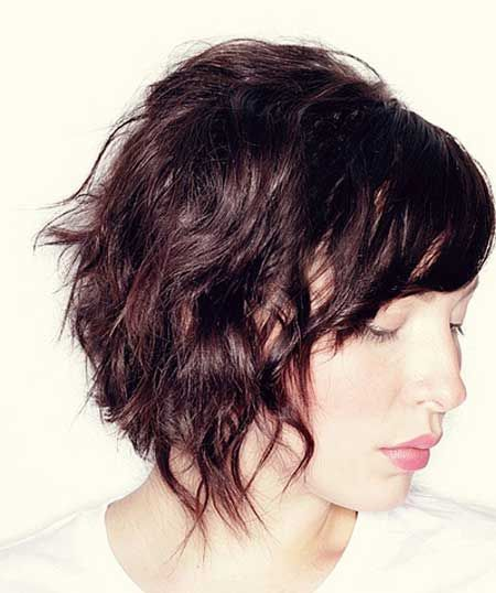Wavy Short Hairstyles 2013-4 I had this hair about 10 years ago Someone once described it as a punk Louise Brooks