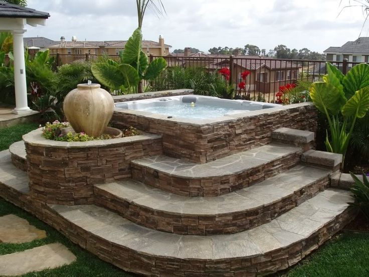 Landscaping Idea Putting In The Whirlpool Landscape