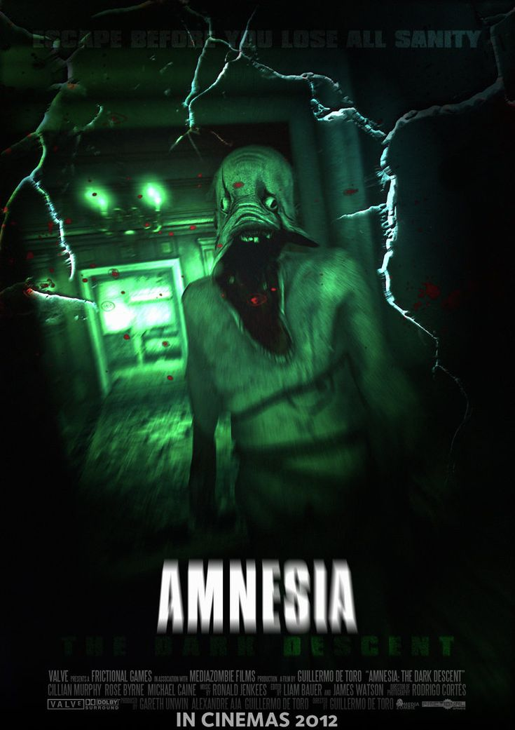 A proof-of-concept horror film poster for Amnesia: The Dark Descent! This was made due to popular demand on a FunnyJunk comp... Also because it purely would be awesome if it actually was a film.