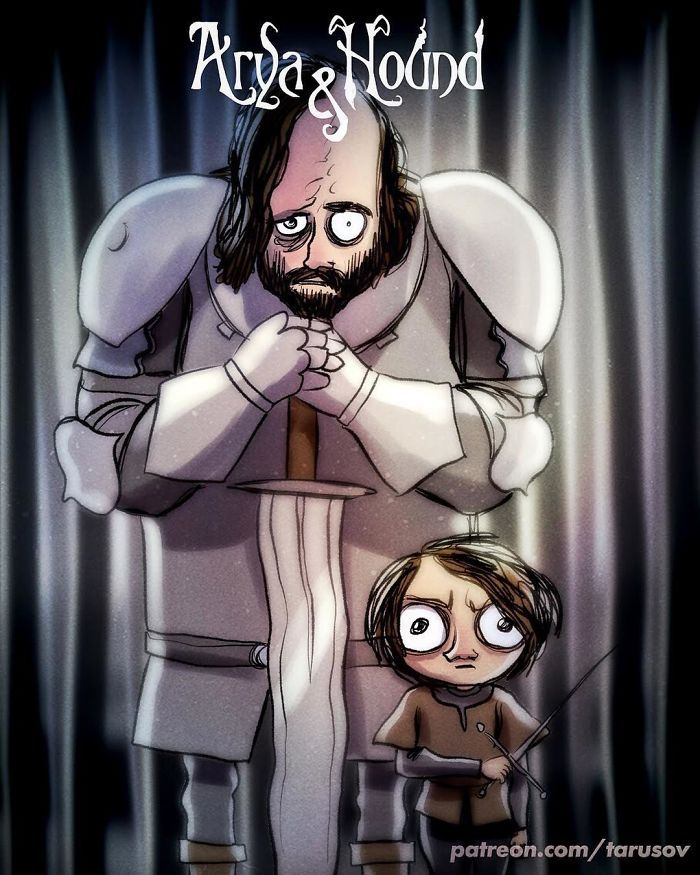 Se Game of Thrones fosse ilustrado por Tim Burton
