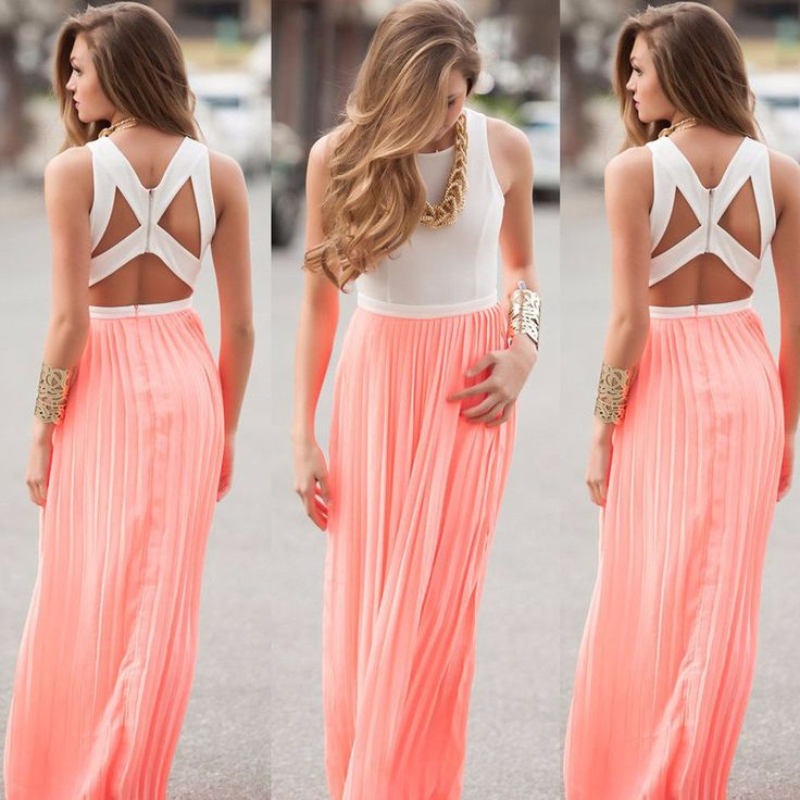 - Pretty maxi floor length party dress for the trendy woman - Stylish design sure to turn heads - Perfect for special occasions or parties - Made from high quality material
