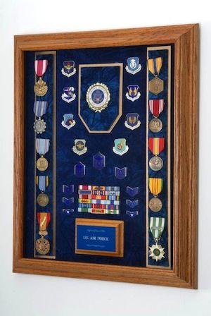 military awards shadow box display