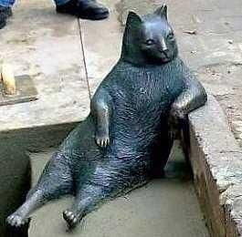 Istanbul's Most Casual Cat Immortalized With Bronze Statue   PetsLady