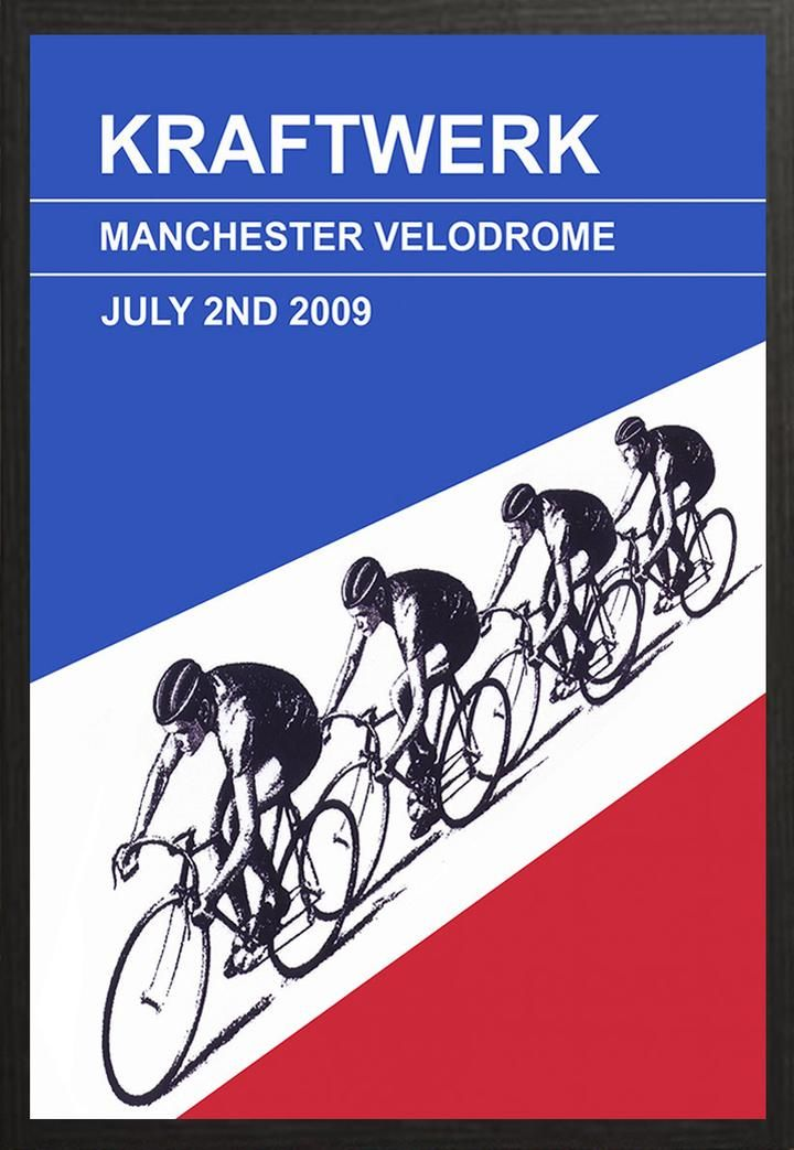 Kraftwerk played at Manchester Velodrome as part of that years international festival. The highlight of the show was undoubtedly the British Olympic cycling team doing laps of the track while the band played Tour De France.