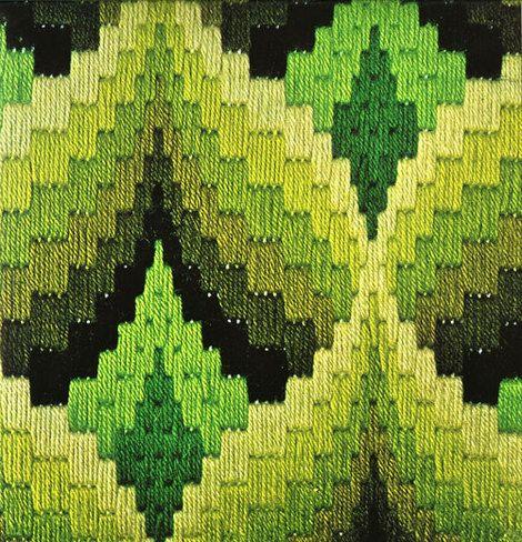 lostinpattern:  Bargello needlepoint by Erica Wilson, 1975