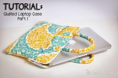 Para o notebook ou, conforme o tamanho, para qualquer outro dispositivo eletrônico. O tutorial tem duas partes e ainda uma terceira parte que ensina a fazer a alça, que pode ser usada em qualquer bolsa. Tutorial Parte 1 -…