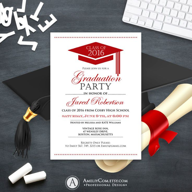 Best 25 high school graduation invitations ideas on pinterest high school graduation for Graduation announcements pinterest