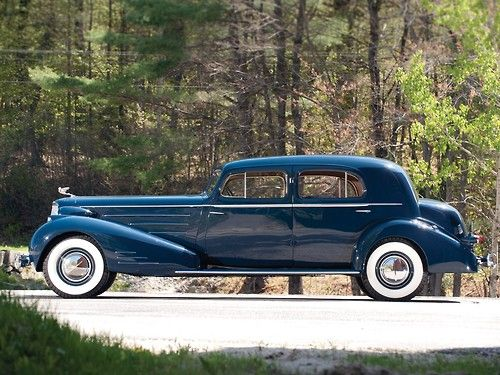 1936 Cadillac V16 Town Sedan by Fleetwood.   Its lines are so simple and elegant that it was one of the cars that defined the American limo in the late middle 1930s.