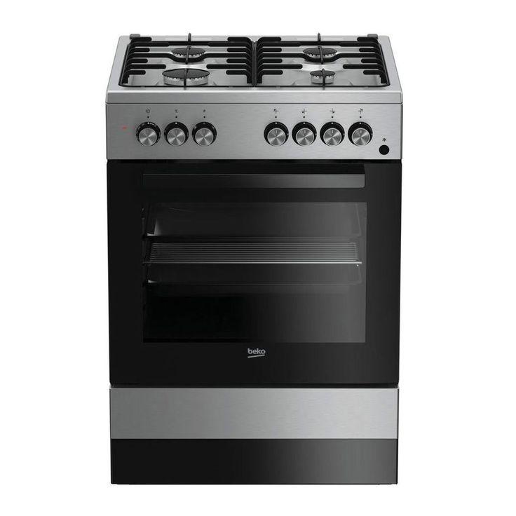 Cucina a gas 60x60 Forno elettrico ventilato Inox Beko