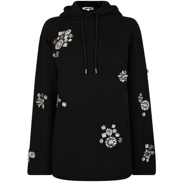 Mcq Alexander Mcqueen Slouchy Embellished Sweatshirt (28.825 RUB) ❤ liked on Polyvore featuring tops, hoodies, sweatshirts, patch sweatshirt, cotton sweatshirts, polka dot tops, embellished sweatshirt and slouchy long sleeve top