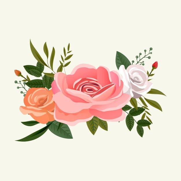 Arreglo De Ramo De Flores Rosas Vector G Free Vector Freepik Freevector Flor Vintage Fl Flores Para Dibujar Flores Dibujadas A Mano Marcos Con Flores