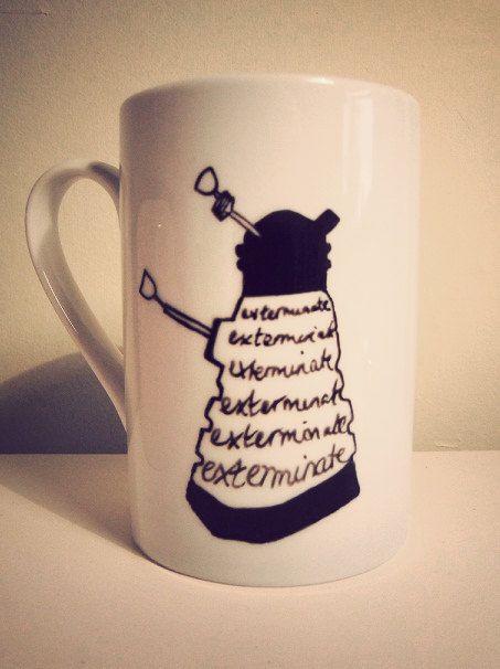 Dr Who Dalek mug by Mr Teacup by MrTeacup on Etsy, $31.20