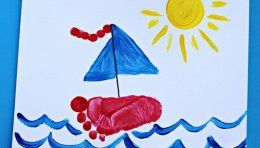 25  Fun and Beautiful Handprint & Footprint Crafts for Your Kids to Make This Summer