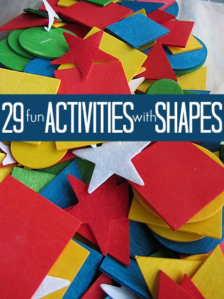 Lots of good ideas for shape activities.