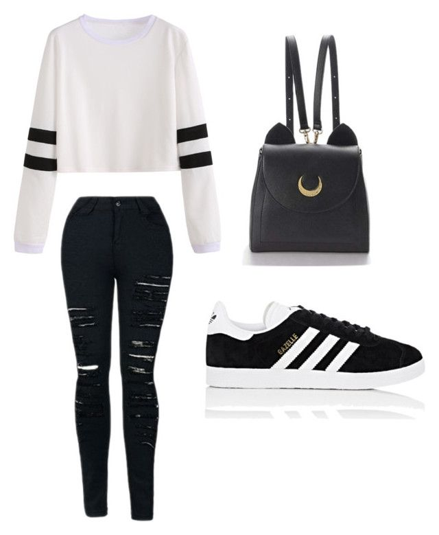 """""""Untitled #4"""" by sofia-pedu on Polyvore featuring adidas and WithChic"""