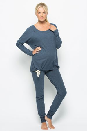 the coziest maternity pajamas