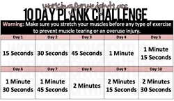 Workout schedule for starting the plank... This site also has tons of great workout videos, Jillian, Carmen, yoga, zumba, Insanity...10 Day Workout Challenges, 15 Day Challenges, Fit & Work Out Challenges, 10 Day Challenges, Planks Challenges, 25 Minute Workout, Healthy, Fit Exercies, How To Do Planks