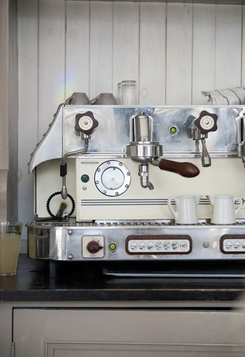 Espresso machine -- there is a real name for it, but I will have to get back to you on that ;)