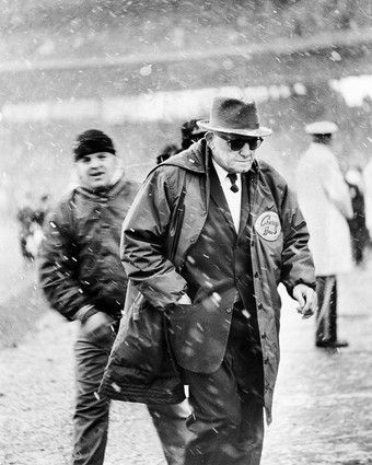 George Halas meant everything to the sport he devoted his life to as a player, founder, owner and coach. Halas founded the Decatur Staleys in 1920, moved the team to Chicago in 1921 and then, as player-owner-coach, changed the name to the Bears, where he was coach until 1967, collecting 324 wins and six NFL titles. Halas was also instrumental in the formation of the National Football League,