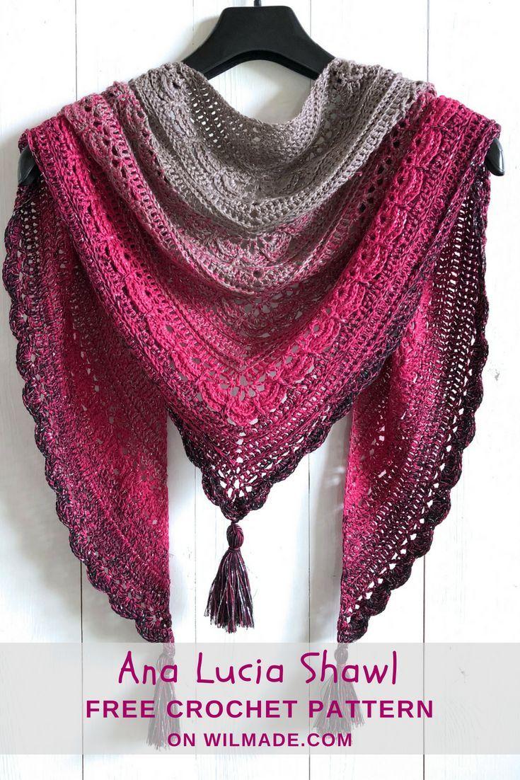 Ana Lucia Shawl - padrão de xaile de crochê livre por