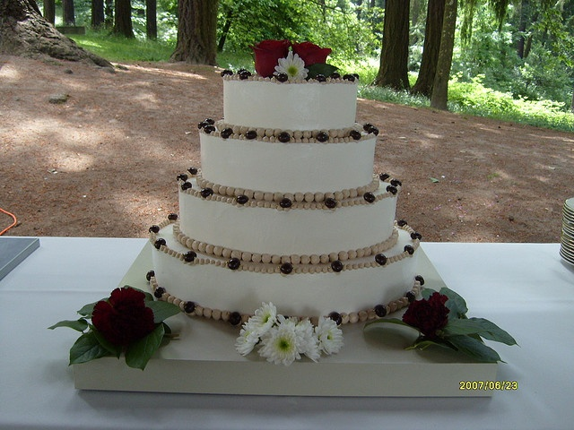 Wedding Cake Italian Meringue Buttercream With Espresso Piping Chocolate Covered Beans