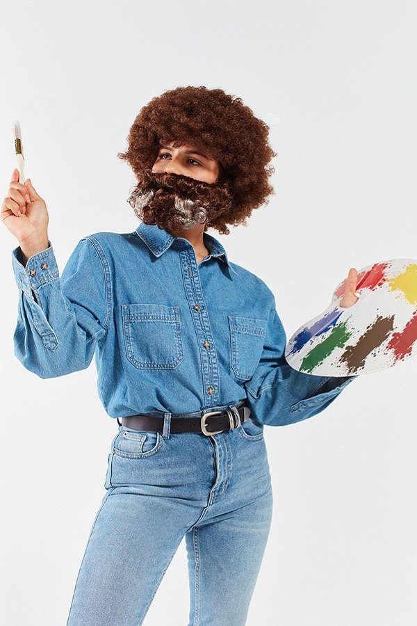 Slide View: 1: Bob Ross Costume Kit