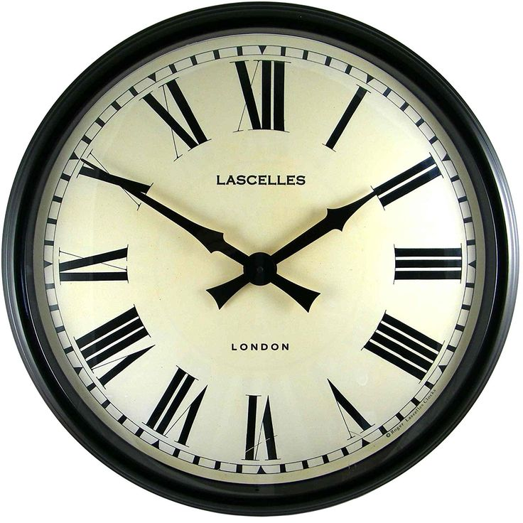 Large Black Kitchen Clock Part - 48: Large Metal Wall Clock - 58cm: Amazon.co.uk: Kitchen U0026 Home