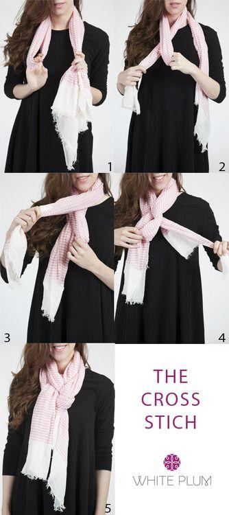 The Cross Stitch scarf tying