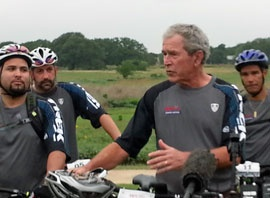 Bush Hosts Wounded Warrior Ride At Central Texas Ranch