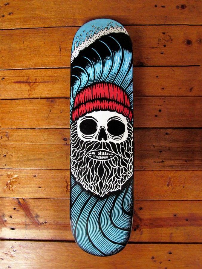 1000 images about posca on pinterest tropical art - Skateboard dessin ...