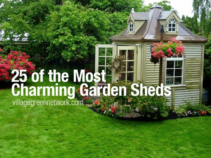 25 of the most charming garden sheds http. Black Bedroom Furniture Sets. Home Design Ideas