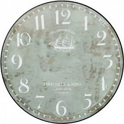 Various Clock Faces- print out and put on old CD's