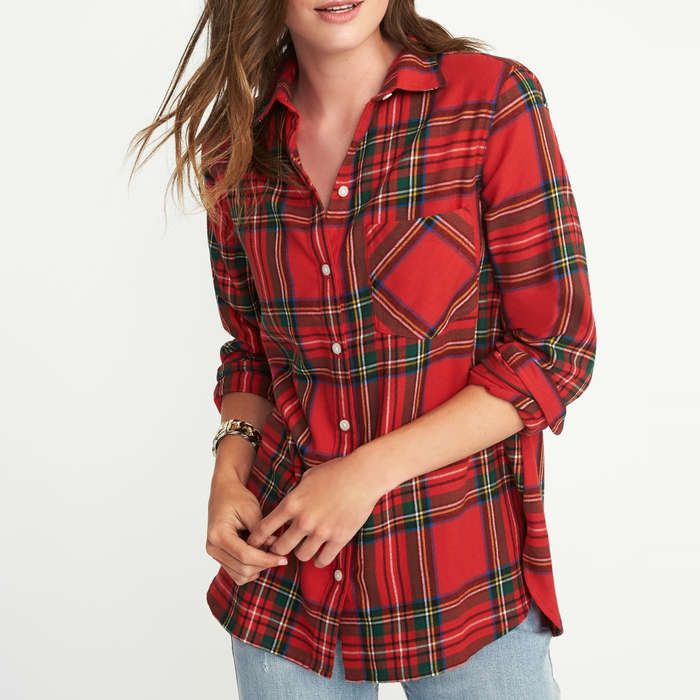 Rank & Style - Old Navy Classic Flannel Shirt for Women #rankandstyle